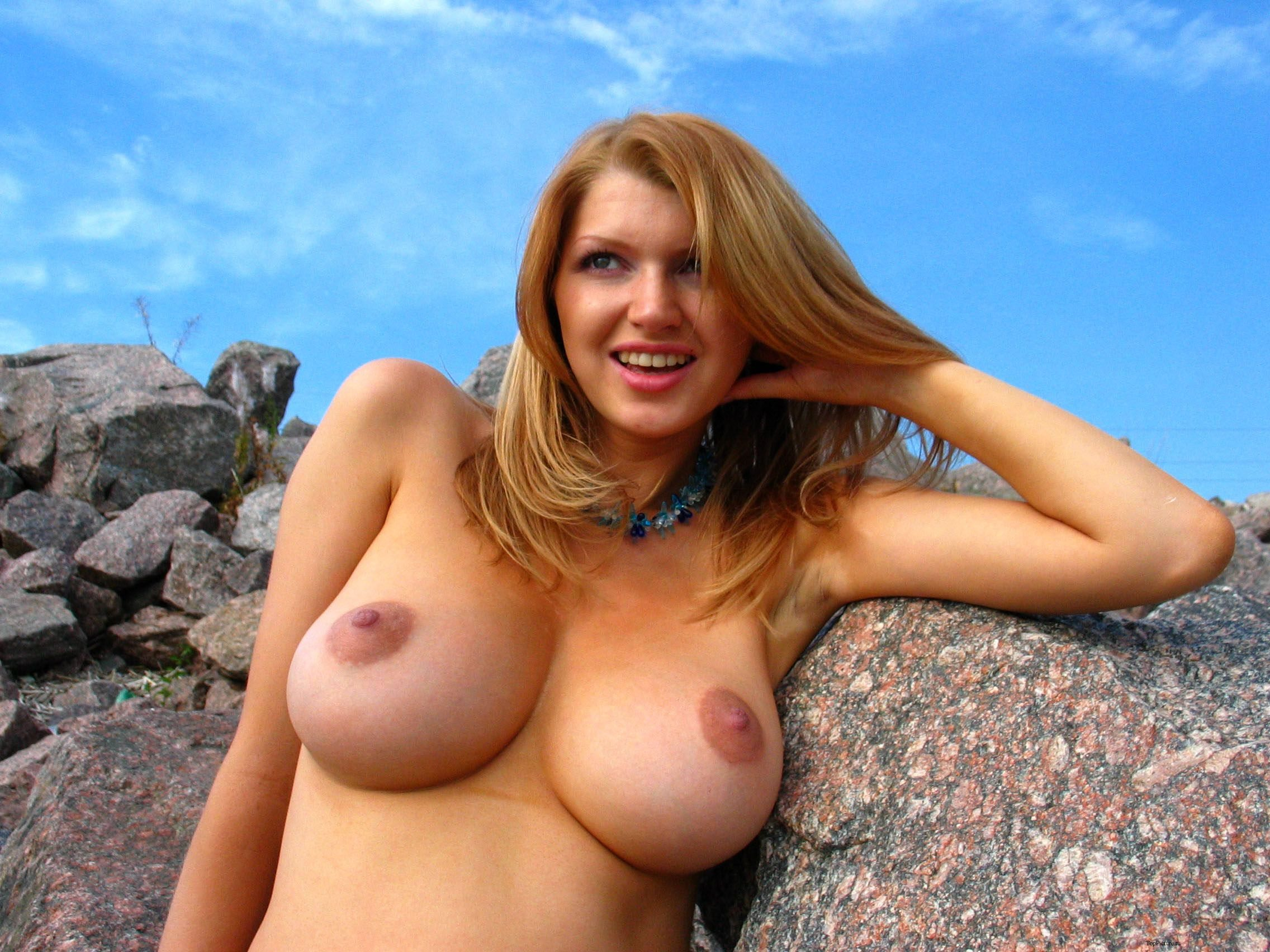 Naked big boobs australian busty woman with