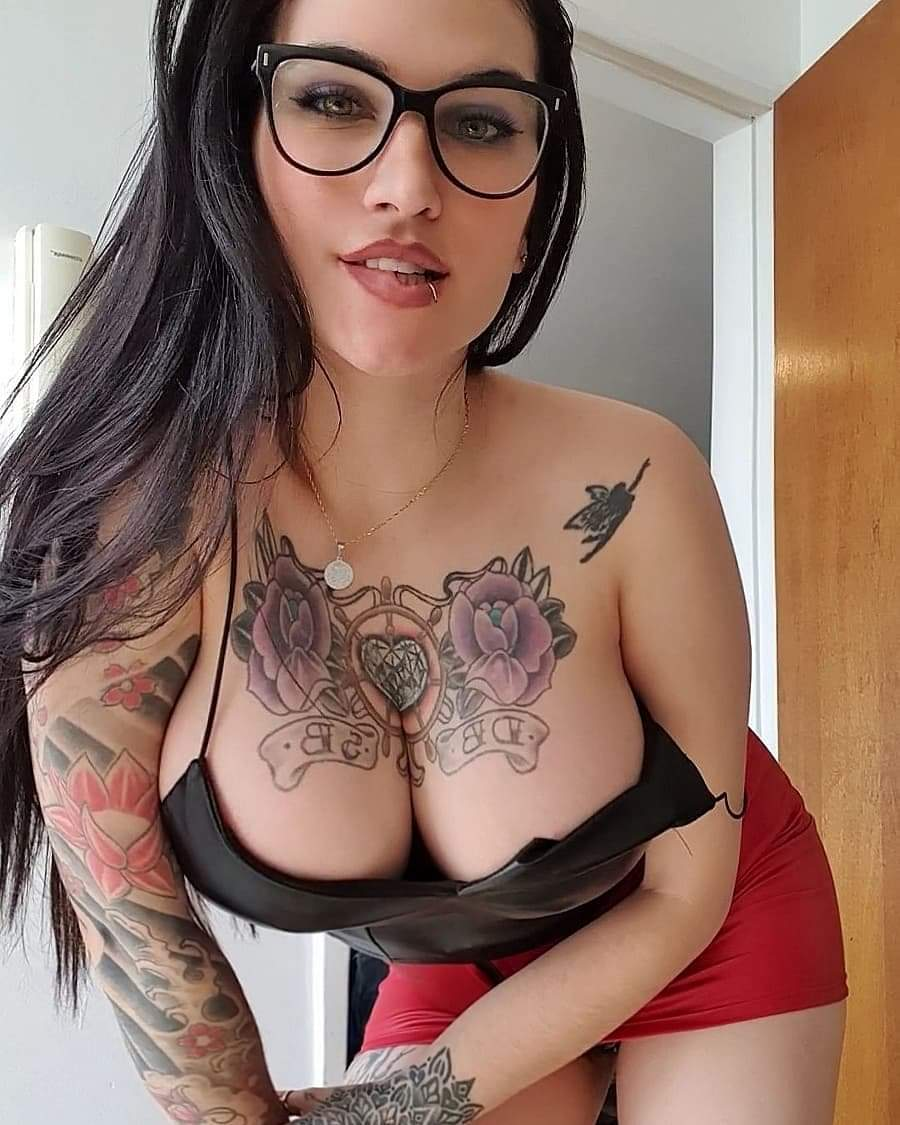 Picture tagged with: Brunette, Busty, Daniela Basadre, Boobs, Tattoo