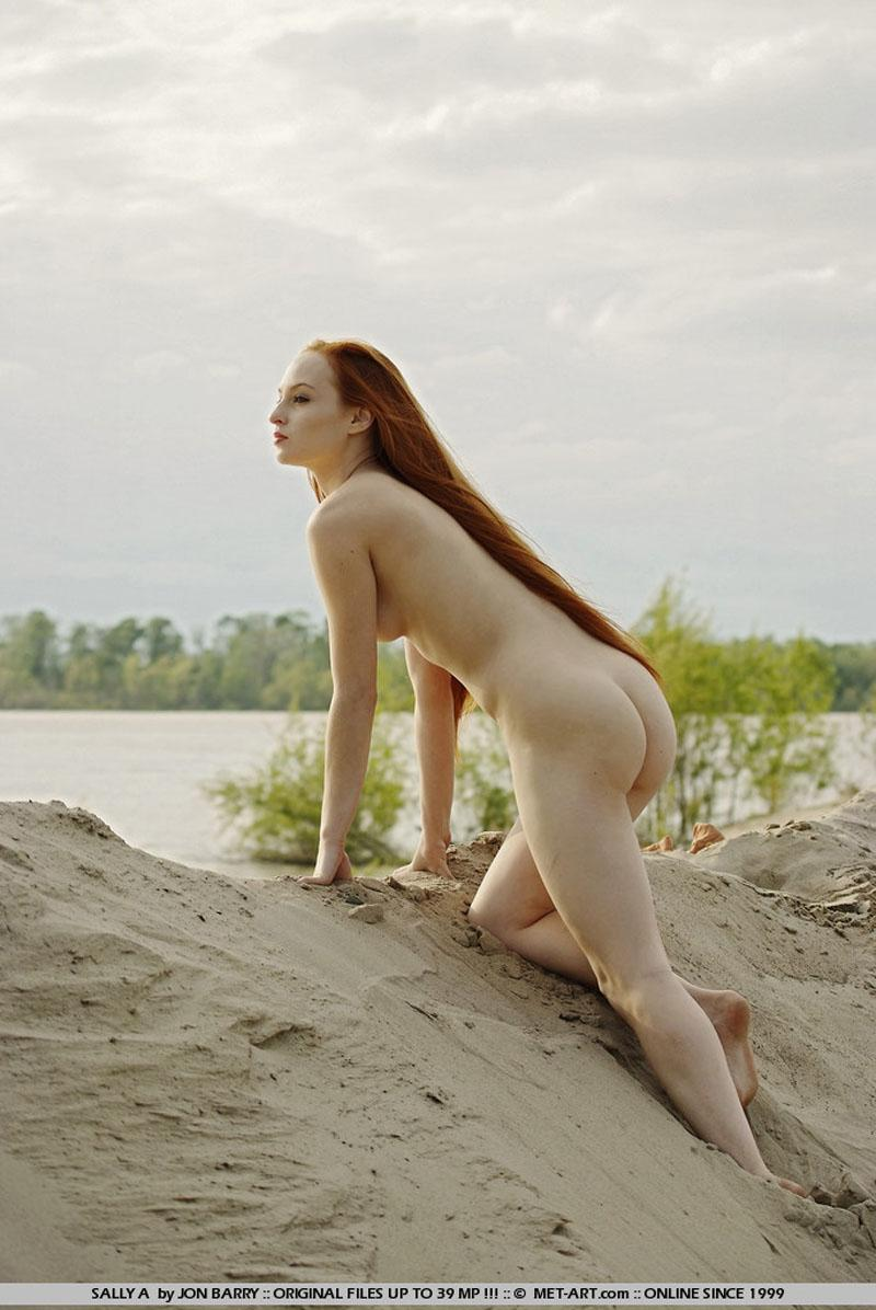 Nude teen picture tagged with: MET Art Redhead Beach