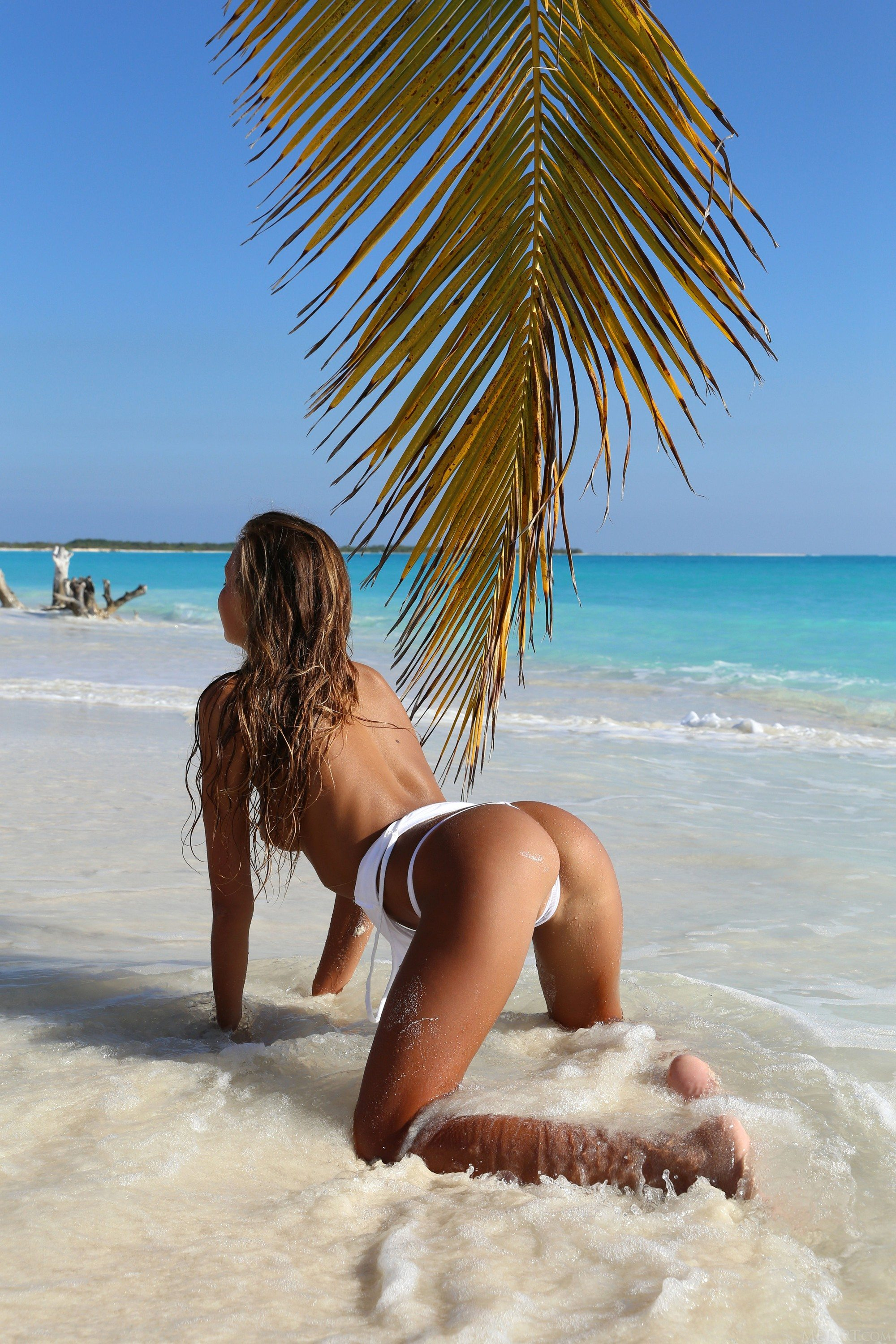 Picture tagged with: Skinny, Blonde, Finica, Katya Clover - Mango A, MET Art, Beach, Nature