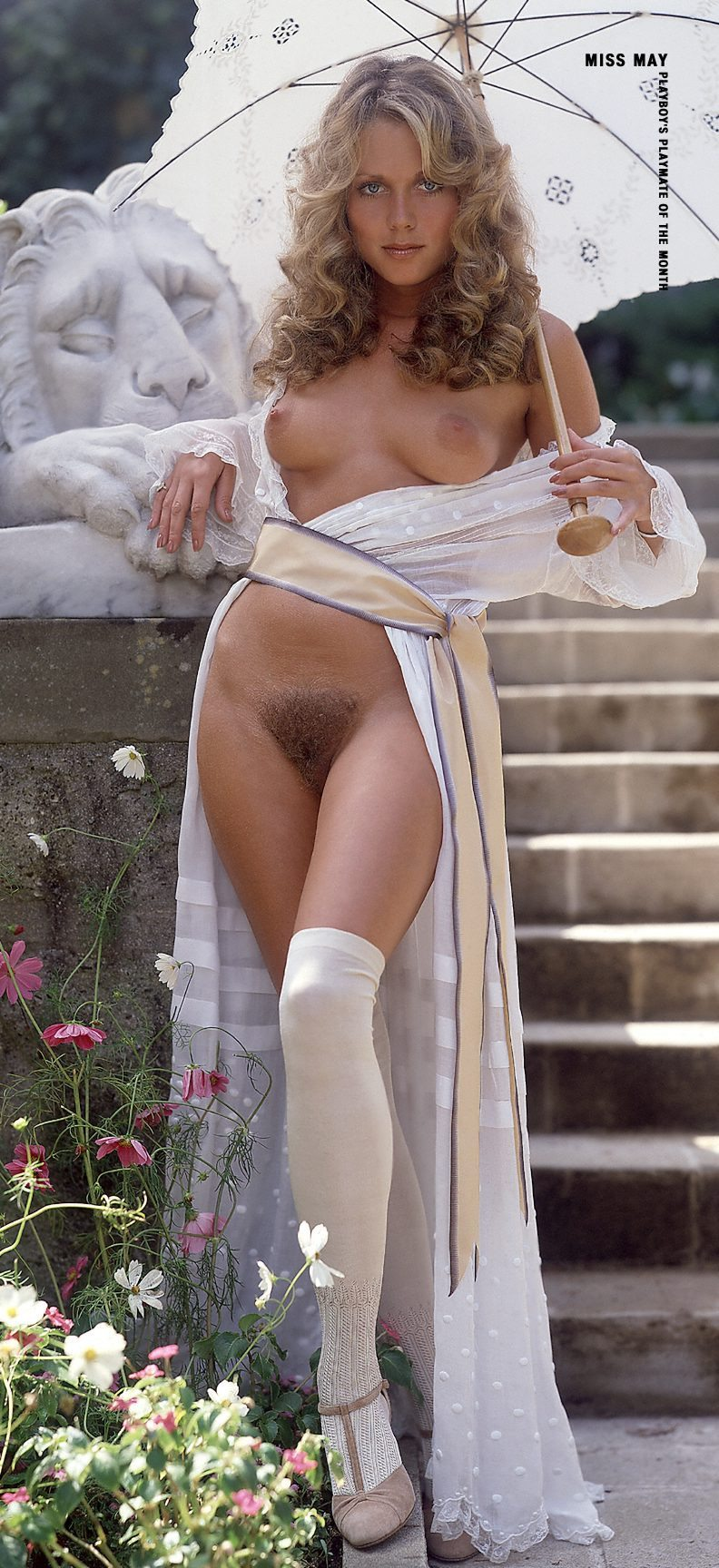 Picture tagged with: Playboy, Blonde, Hairy, Michele Drake, Vintage