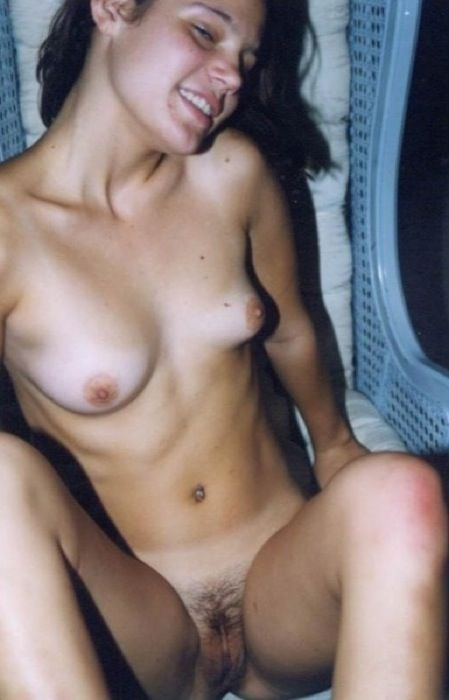 Picture tagged with: Skinny, Brunette, Pussy, Small Tits