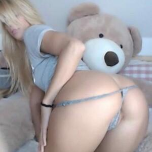 Picture tagged with: Blonde, Ass - Butt, Camgirl, Chaturbate, Jana Volkova