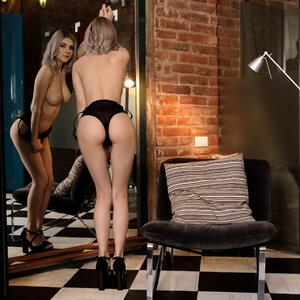 Picture tagged with: Blonde, Ass - Butt, Eva Elfie, Lingerie, Nubile Films