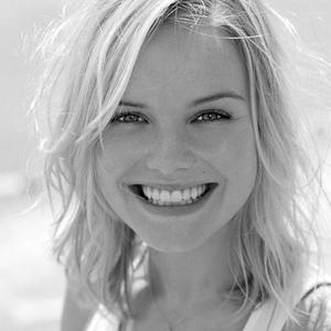 Picture tagged with: Blonde, Black and White, Face, Safe for work, Smiling