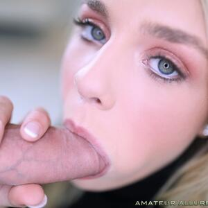 Picture tagged with: Blonde, Blowjob, Eyes, Gabbie Carter