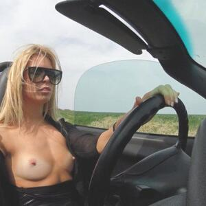 Picture tagged with: Blonde, Camgirl, Car, Chaturbate, Jana Volkova