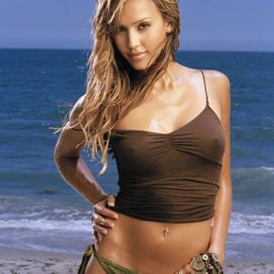 Picture tagged with: Blonde, Celebrity - Star, Jessica Alba, Piercing, Tummy