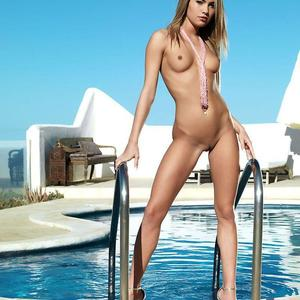 Picture tagged with: Blonde, Pool