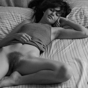 Picture tagged with: Brunette, Black and White, Hairy