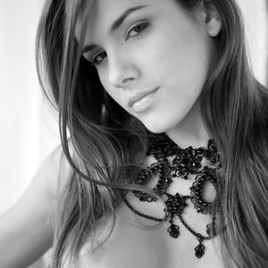 Picture tagged with: Brunette, Black and White, Roberta Murgo