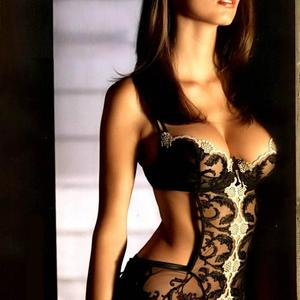 Picture tagged with: Brunette, Lingerie