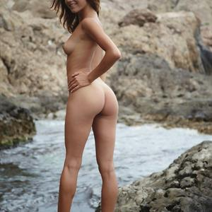 Picture tagged with: Errotica Archives, Skinny, Brunette, Ass - Butt, Cute, Small Tits, Smiling