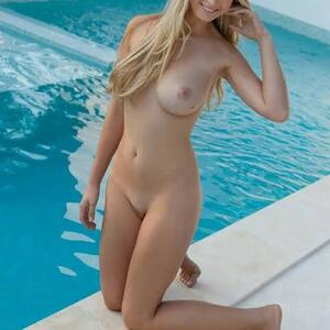 Picture tagged with: Femjoy, Blonde, Pool