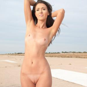 Picture tagged with: Femjoy, Skinny, Brunette, Beach, Flat chested, Small Tits
