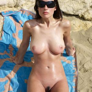 Picture tagged with: Hegre Art, Busty, Brunette, Lazy on the Beach, Muriel