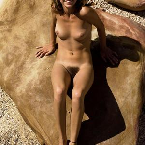 Picture tagged with: Hegre Art, Skinny, Brunette, Cute, Hairy, Smiling, Tummy