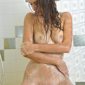 Picture tagged with: MET Art, Brunette, Avasa, Shower, Yarina A