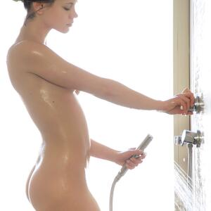 Picture tagged with: MET Art, Brunette, Ensha, Little Caprice, Shower