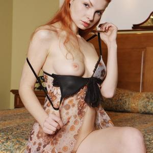 Picture tagged with: MET Art, Redhead, Lingerie, Natalia A