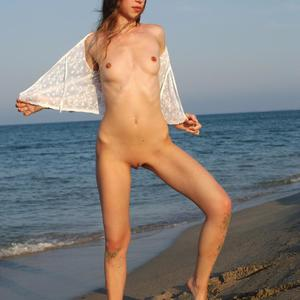 Picture tagged with: MET Art, Skinny, Beach, Destination, Flat chested, Mika A, Small Tits
