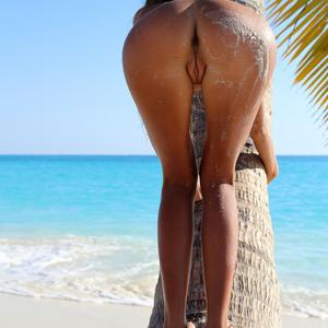 Picture tagged with: MET Art, Skinny, Blonde, Beach, Finica, Katya Clover - Mango A, Nature