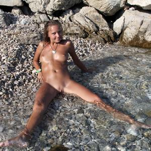 Picture tagged with: MET Art, Skinny, Blonde, Befreit, Katya Clover - Mango A, Nature
