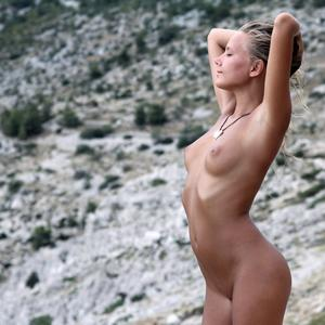 Picture tagged with: MET Art, Skinny, Blonde, Katya Clover - Mango A, Nature, Sithonia