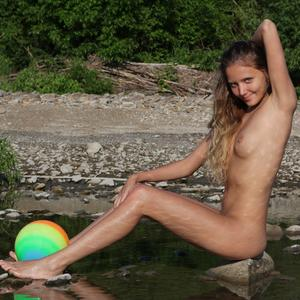 Picture tagged with: MET Art, Skinny, Blonde, Katya Clover - Mango A, Nature, Toxo