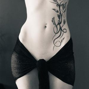 Picture tagged with: Skinny, Art, Small Tits, Tattoo, Tummy