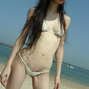 Picture tagged with: Skinny, Asian, Beach