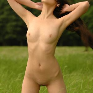 Picture tagged with: Skinny, Asian, Brunette, Nature, Small Tits, Sofia C, Tummy