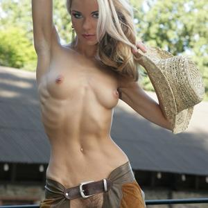 Picture tagged with: Skinny, Blonde, Cowgirl, Hat, Pussy, Small Tits, Tummy