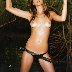 Picture tagged with: Skinny, Brunette, Ana Beatriz Barros, Small Tits, Tummy