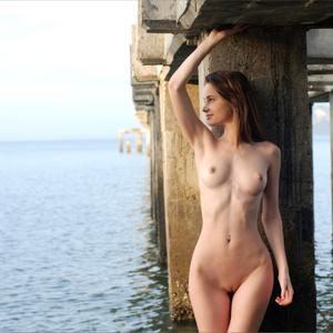 Picture tagged with: Skinny, Brunette, Anya, Piercing, Small Tits