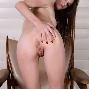 Picture tagged with: Skinny, Brunette, Ass - Butt, Kyler Quinn, Pussy, Small Tits