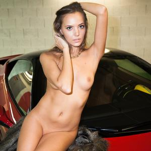 Picture tagged with: Watch4Beauty, Blonde, Ferrari, It would be a ride, Katya Clover - Mango A