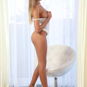 Picture tagged with: Watch4Beauty, Blonde, Katya Clover - Mango A, White Chair