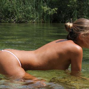 Picture tagged with: Watch4Beauty, Skinny, Blonde, By the Water, Katya Clover - Mango A
