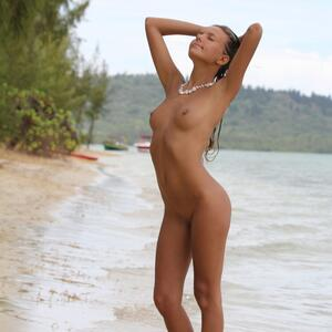 Picture tagged with: X-Art, Skinny, Blonde, Beach, Beach Baby, Katya Clover - Mango A, Nature