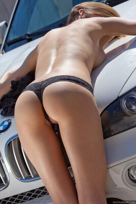Picture tagged with: Digital Desire, Ass - Butt, Car, Lingerie