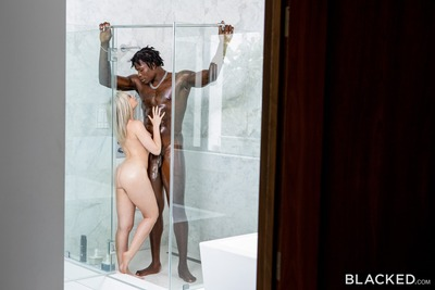 Picture tagged with: Blonde, Allie Nicole, Blacked.com, Shower