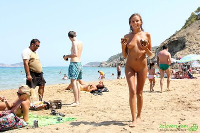 Picture tagged with: Blonde, Beach, Katya Clover - Mango A, Muddy at the beach