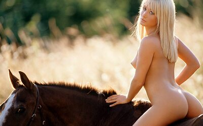Picture tagged with: Blonde, Horse