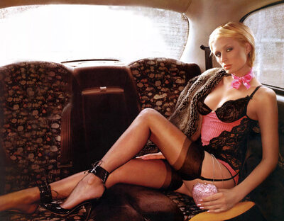 Picture tagged with: Blonde, Paris Hilton, Celebrity - Star, Lingerie