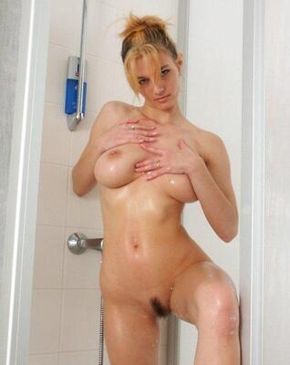 Picture tagged with: Blonde, Shower