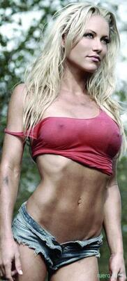 Picture tagged with: Blonde, Stacey McMahon, Tummy