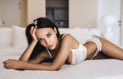 Picture tagged with: Angelina Petrova, Brunette, Eyes, Lingerie