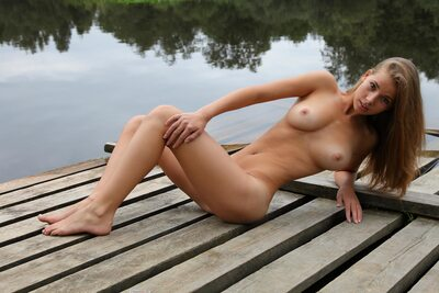 Picture tagged with: Brunette, Boobs, Cute, Goddess Nudes, Marya, Nature, Piercing