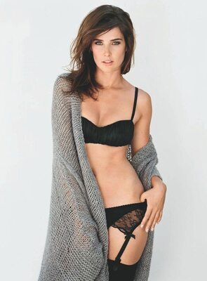 Picture tagged with: Brunette, Celebrity - Star, Cobie Smulders - Robin Sparkles, Lingerie